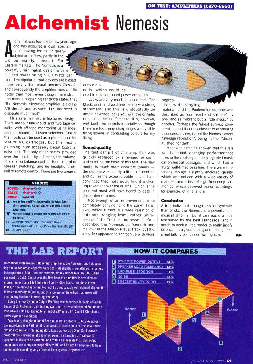 alchemist hifi products nemesis range alchemist nemesis apd22a hifi choice review